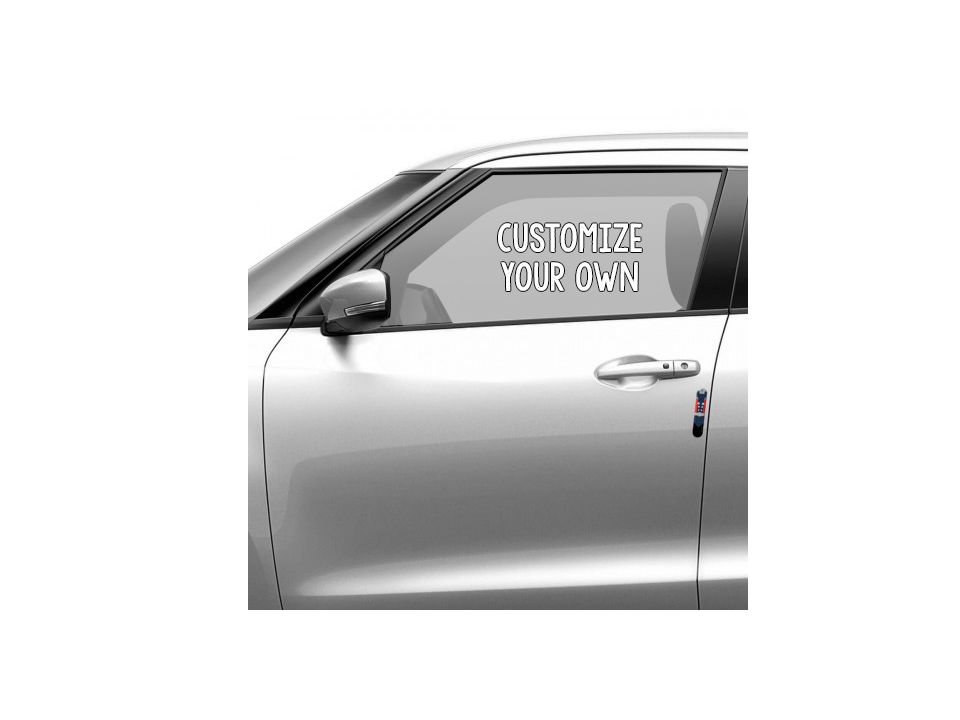 customize your own perforated car window decals